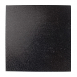 Double Thick Turned Edge Cake Card - Square - Black - 10