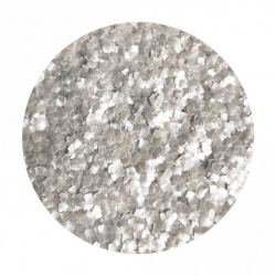 Cake Craft Group Edible Glitter Squares - Silver (7g)