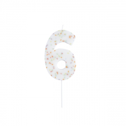 Hootyballoo Giant Sprinkle Number Candle - 6