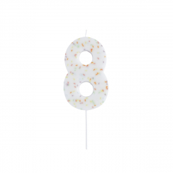 Hootyballoo Giant Sprinkle Number Candle - 8