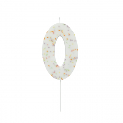 Hootyballoo Giant Sprinkle Number Candle - 0