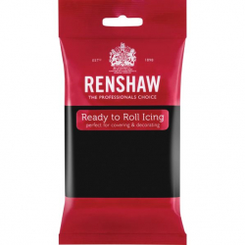 Renshaw Decor-Ice Ready To Roll Icing - Jet Black (250g)