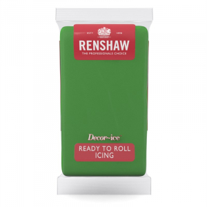 Renshaw Decor-Ice Ready To Roll Icing - Lincoln Green (1kg)
