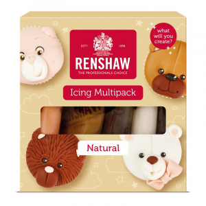 Renshaw Decor-Ice Ready To Roll Icing - Natural Colours (5 x 100g)