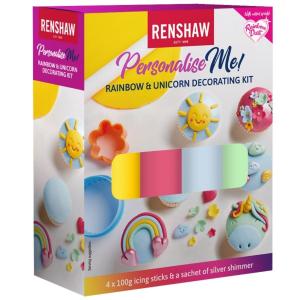 Renshaw Personalise Me! - Rainbow & Unicorn Decorating Kit (4 x 100g)