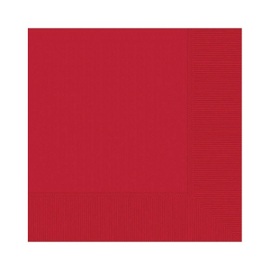 Amscan Party Napkins - Apple Red (Pack of 20)
