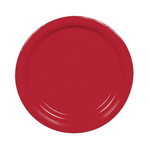 Amscan Party Plates - Apple Red (Pack of 20)