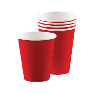 Amscan Party Cups - Apple Red (Pack of 20)