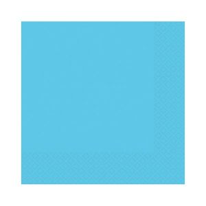 Amscan Party Napkins - Caribbean Blue (Pack of 20)
