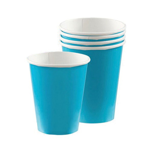 Amscan Party Cups - Caribbean Blue (Pack of 20)