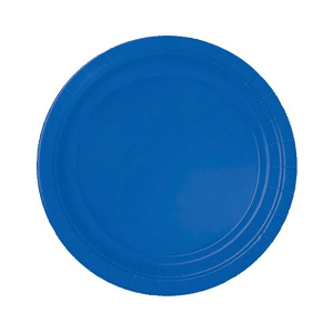 Amscan Party Plates - Royal Blue (Pack of 20)