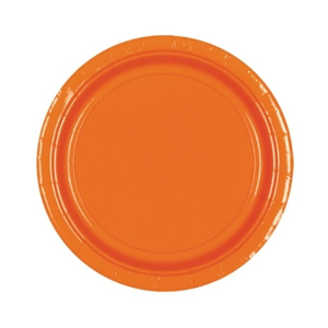 Amscan Party Plates - Orange (Pack of 20)