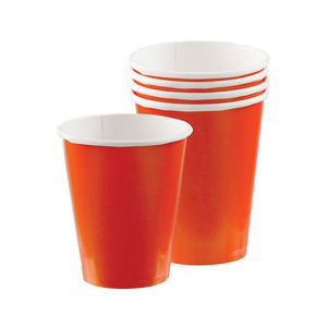 Amscan Party Cups - Orange (Pack of 20)