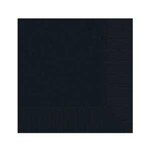 Amscan Party Napkins - Black (Pack of 20)