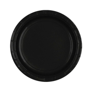 Amscan Party Plates - Black (Pack of 20)