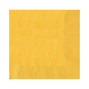 Amscan Party Napkins - Yellow (Pack of 20)