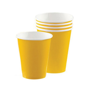 Amscan Party Cups - Yellow (Pack of 20)