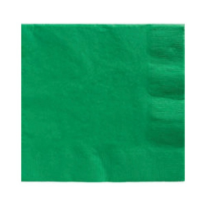 Amscan Party Napkins - Green (Pack of 20)