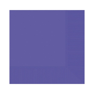 Amscan Party Napkins - Purple (Pack of 20)