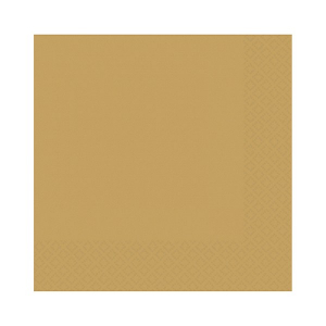 Amscan Party Napkins - Gold (Pack of 20)