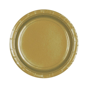 Amscan Party Plates - Gold (Pack of 20)