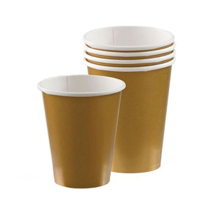 Amscan Party Cups - Gold (Pack of 20)