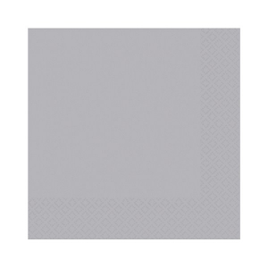 Amscan Party Napkins - Silver (Pack of 20)