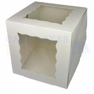 "Premium Giant Cupcake Box - White - 10"""