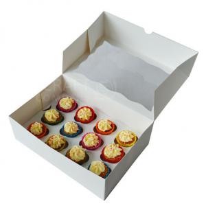 Mini Cupcake Box / 12 Cavity - White
