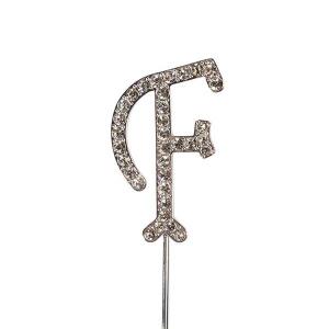 Culpitt Diamante Alphabet Pick - F