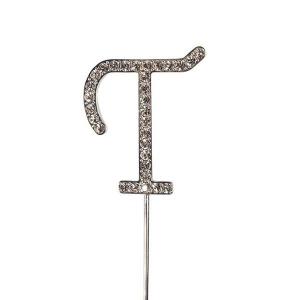 Culpitt Diamante Alphabet Pick - T