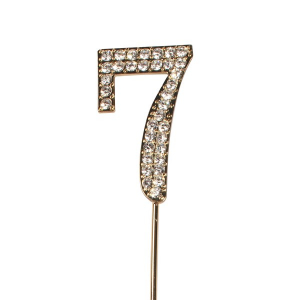 Cake Star Diamante Number Pick - 7 - Gold
