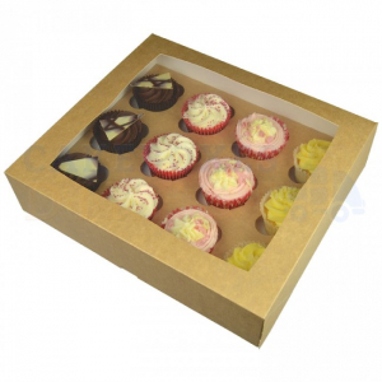 Cupcake Box / 12 Cavity - Premium Kraft