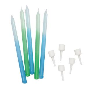 Culpitt Candles - Blue / Green Ombre (Pack of 12)