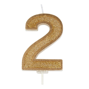 Culpitt Sparkle Numeral Candle - Gold - 2