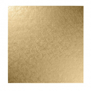 """Double Thick Turned Edge Cake Card - Square - Pale Gold - 10"""""""