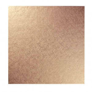 """Double Thick Turned Edge Cake Card - Square - Rose Gold - 10"""""""