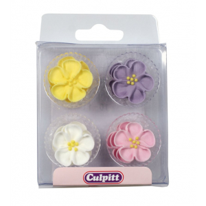 Culpitt Piped Sugar Flowers - Wild Roses (Pack of 12)