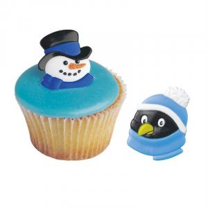 Culpitt Cake Ring Decorations - Snowman & Penguin (Pack of 144)