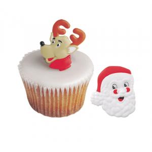 Culpitt Cake Ring Decorations - Reindeer & Santa (Pack of 144)
