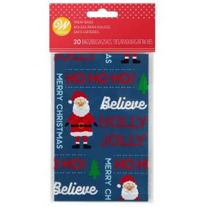 Wilton Mini Treat Bags - Believe Santa (Pack of 20)