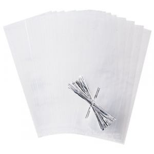 Wilton Party Bags with Ties - Clear (Pack of 25)