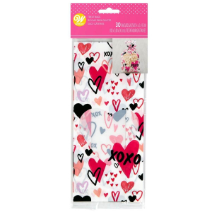 Wilton Treat Bags - Valentine Hearts (Pack of 30)