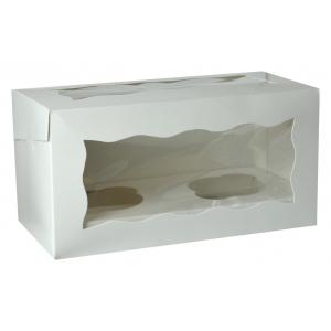 Cupcake Box / 2 Cavity - White