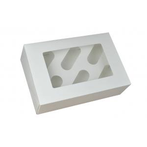Cupcake Box / 6 Cavity - White