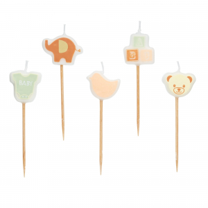 KitchenCraft Baby Wax Cake Candles (Pk5)