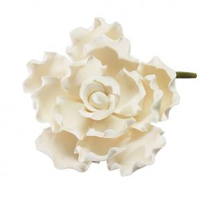 Culpitt Gum Paste Flower - Ruffled Flower Petal - White