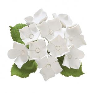 Culpitt Gum Paste Flower - Hydrangea Bunch - White