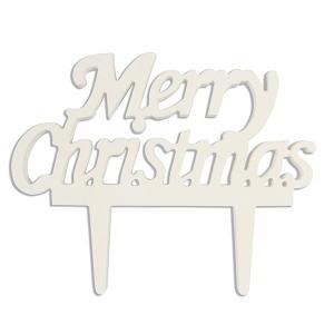 Culpitt Gumpaste Decorations - Merry Christmas - White