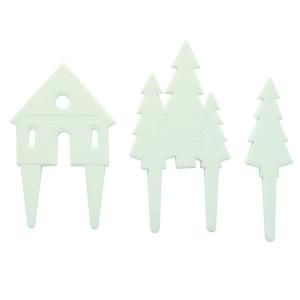 Culpitt Gumpaste Decorations - Nordic Scene - White (Set of 3)